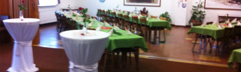 Gastraum mit 150 Sitzplätzen